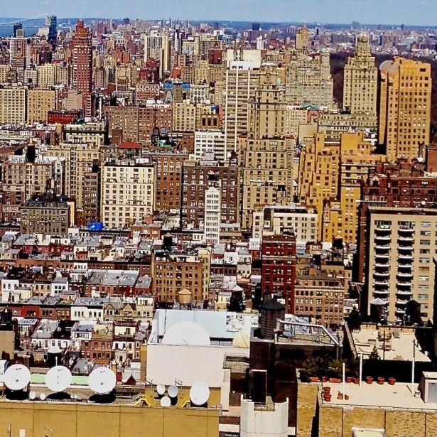 Utsikt från hustak nära Central Park 12 april.